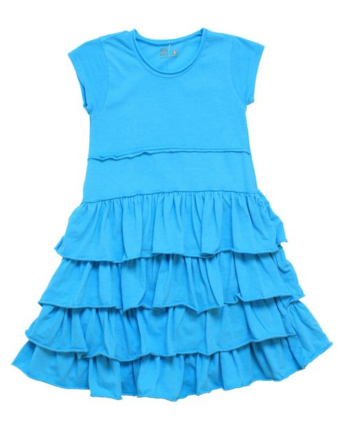 Blueacidwashtierdress