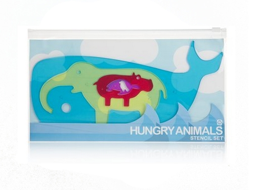 Hungry Animals Stencils M_9204