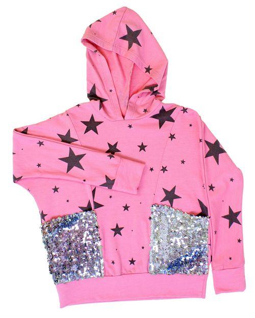 Pinkstarhoodiewsequins