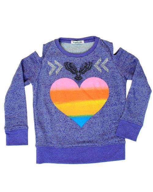 Purpheartcutoutsweater