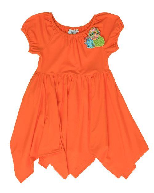 Orangepeasantdresswcorsage