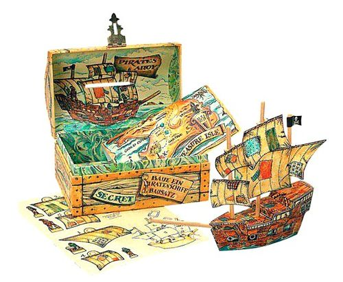 Pirate treasure ship kit