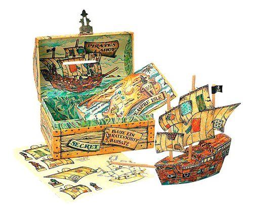 Pirate treasure ship kit