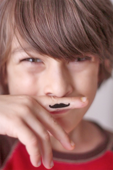 Temp moustache tattoo