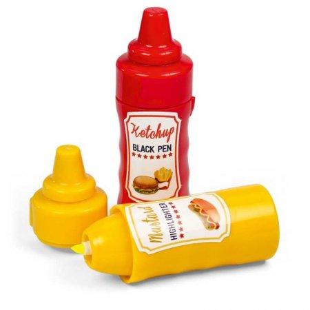 Mustard-ketchup-fosforlu-kalem-ve-tukenmez-kalem-seti-30626-68-O